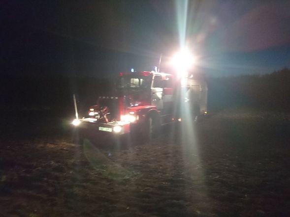 Põlev traktor