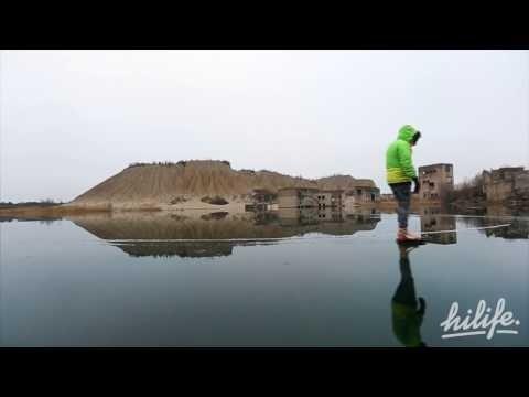 Võimas VIDEO: Eesti taas maailmameedias! Eestlased uisutasid veealuse Rummu vangla varemete peal ja tegid sellest ennenägematu klipi