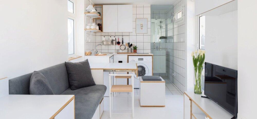 FOTOD | Korter 15 ruutmeetril mahutab kõik eluks vajaliku ja rohkemgi veel