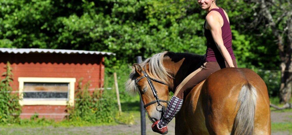 Heidi: läksin metsa. Vahel hobuse seljas, vahel üksinda.