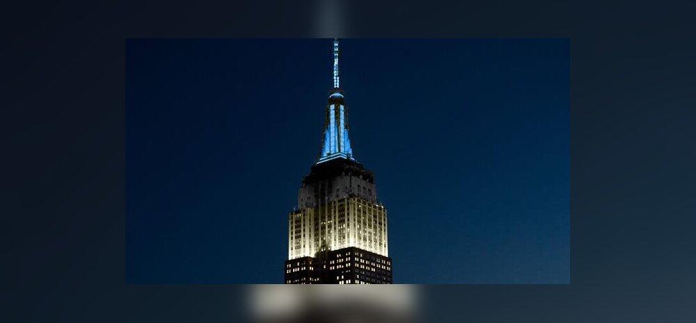 FOTO | New Yorgi üks ikoonilisemaid hooneid, Empire State Building säras sinimustvalgena!