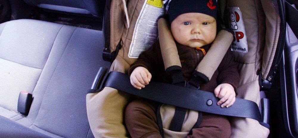 Paljud vanemad paigaldavad siiani lapse turvatooli autos kõige ohtlikumasse kohta