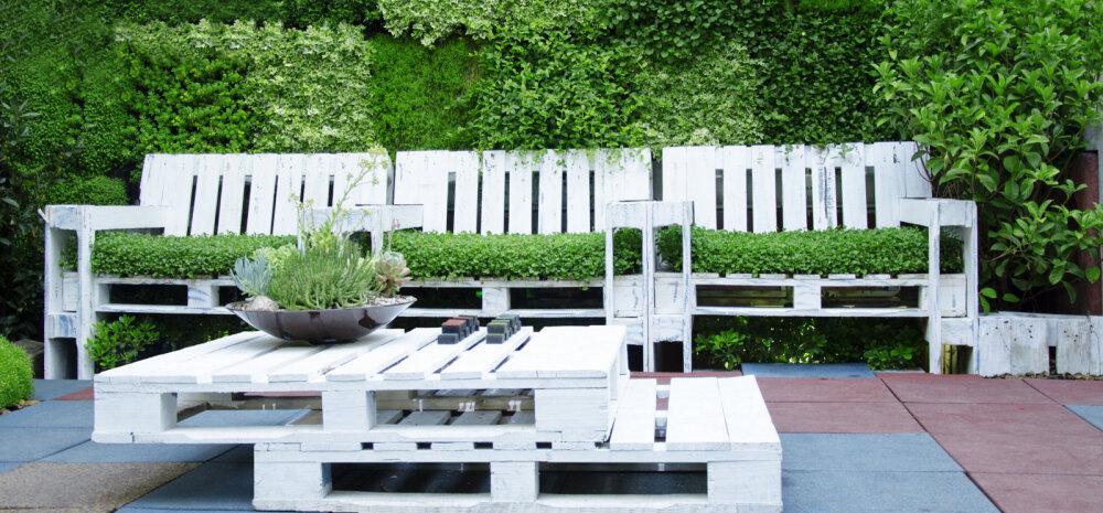 ФОТО | Просто и дешево: деревянные поддоны как основа садовой мебели