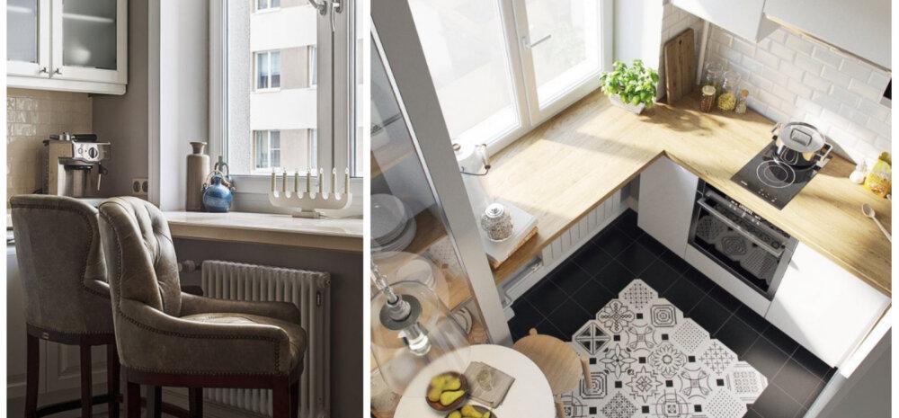 ФОТО | Дизайн кухни с использованием подоконника
