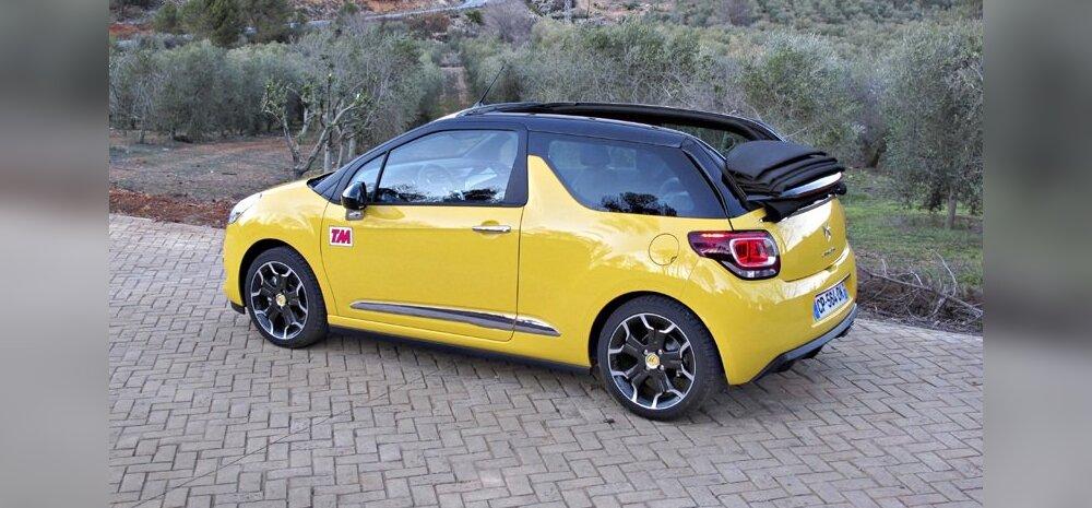 """Citroën DS3 Cabrio: """"Sitikal"""" sõitis katus ära"""