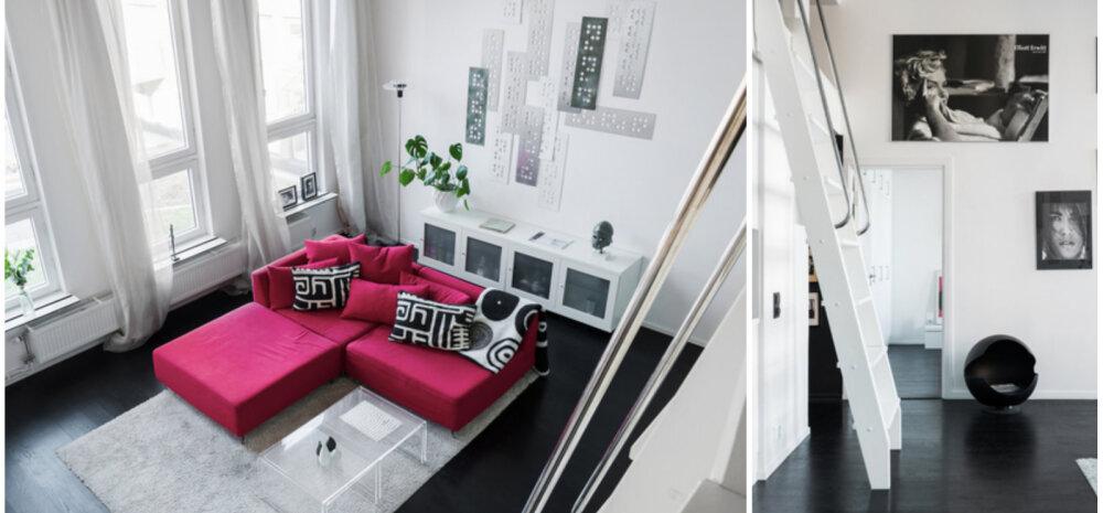 ФОТО │ Квартира 50 м2 превратилась в двухуровневую за счет высоты потолков