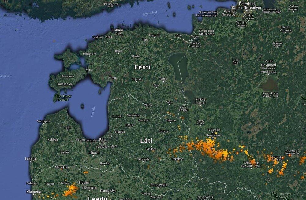 Закрывайте окна: со стороны Латвии на Эстонию надвигается гроза