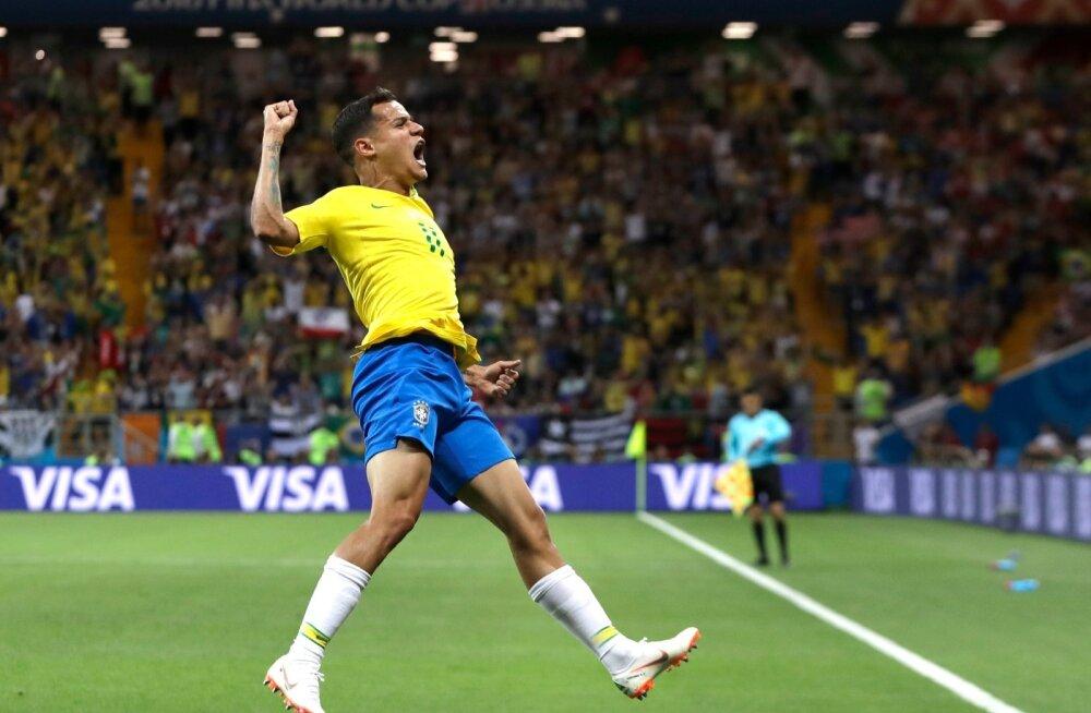 Philippe Coutinho väravat tähistamas.
