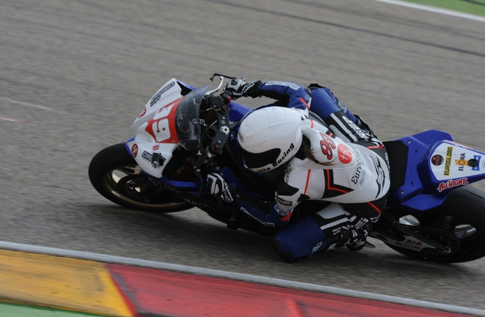 Anastassia Kovalenko testisõidul Aragonis