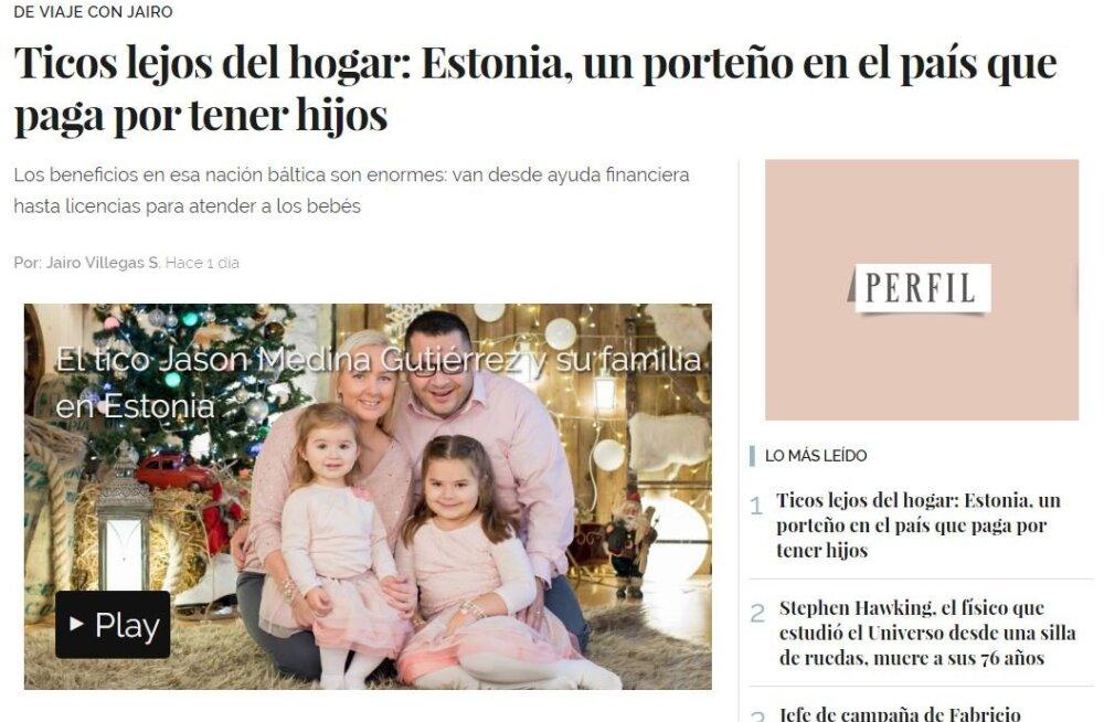 Costa Ricast Eestisse elama asunud kahe tütre isa: Eesti sotsiaal- ja haridussüsteem on väga helde, eestlased töökad ja tõsised
