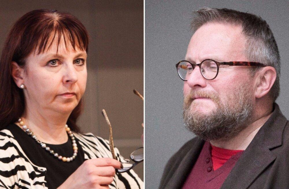 """Riigikogu liige Tiina Kangro nimetab oma kolleegi Hardi Volmerit sotsiaalmeedias """"vaimseks värdjaks"""""""