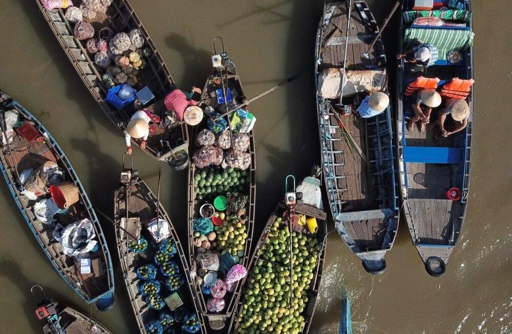 Maaleht ja Delfi Vietnamis: Mekongi jõe turg ja vaated