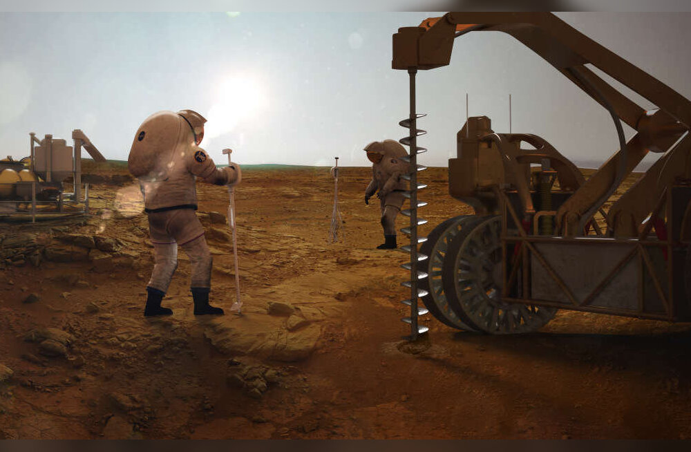 Marsi pinna alt leiti suures koguses veejääd