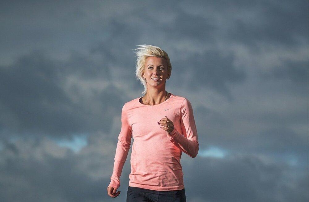 Seitsmevõistleja Grete Griffin on pärast emaks saamist kiirelt hea vormi taastanud.