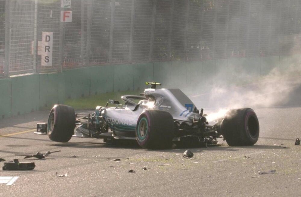 Valtteri Bottas lõhkus Austraalia GP kvalifikatsioonis oma vormeli.