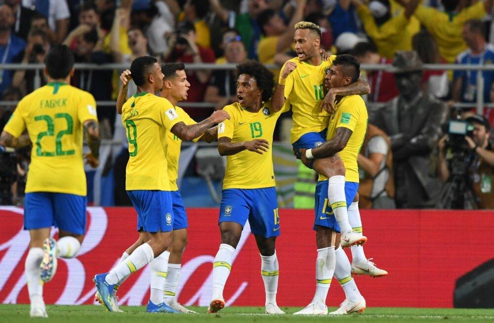 Kas tulevane maailmameister? Kihlveokontorite andmeil panustatakse seekord kõige rohkem Brasiilia võidule. Viimati võitsid kohvimaa pallurid MM-i 2002. aastal.