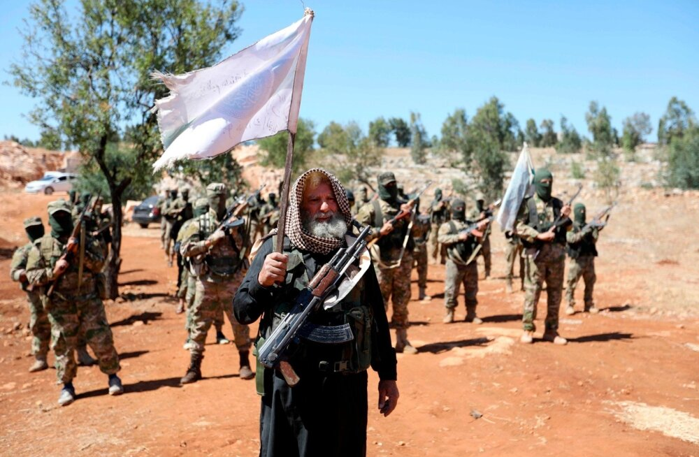 Islamistliku liikumise Tahrir al-Sham võitlejad teisipäeval Idlibis
