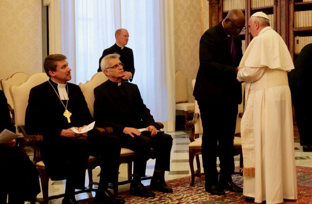 Peapiiskop Urmas Viilma kohtus paavst Franciscusega
