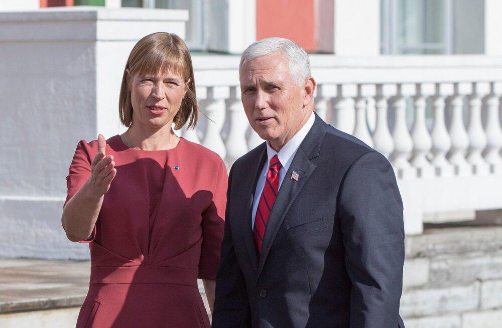 USA asepresident Mike Pence Kadriorus