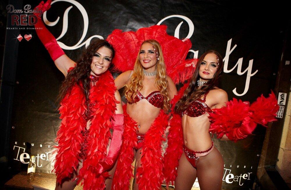 FOTOD: Dom Party grandioosne punane pidu möödus šampanjameres