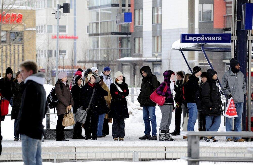 Helsingi piirkonna ühistranspordistreigist hoolimata oli liiklus üsna sujuv