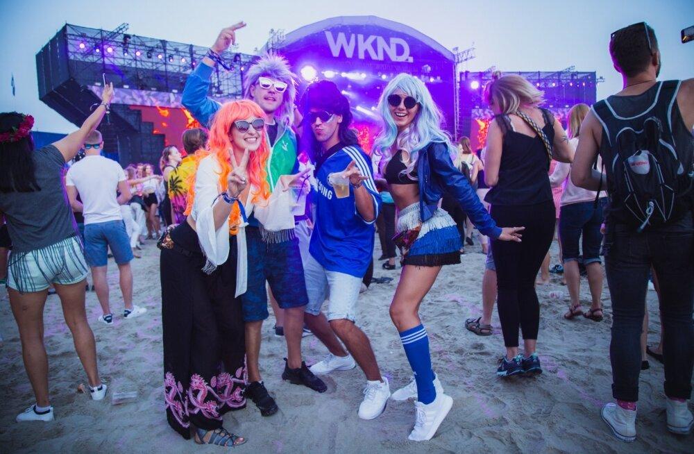 Weekend Festival Baltic 2018, teise päeva stiilsed osalejad tunnevad end mõnusalt.