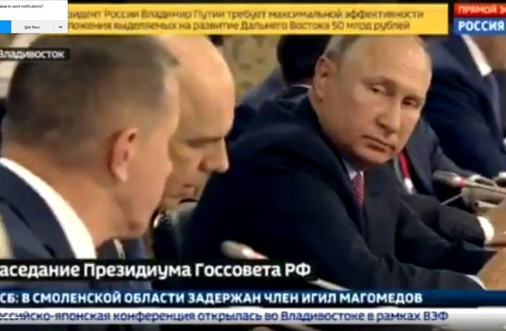 VIDEO | Putin noomis ministreid ettevalmistamata nõupidamisele tulemise eest