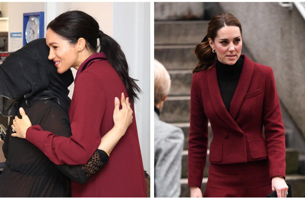 FOTOD | Nagu kaksikud! Kate ja Meghan panid samal päeval selga väga sarnased riided