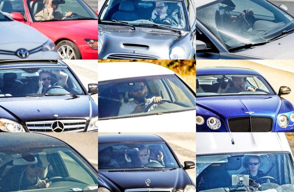 """ФОТО: """"Потенциальные убийцы"""". Таллиннские водители за рулем занимаются всевозможными посторонними делами, рискуя своим и чужим здоровьем"""