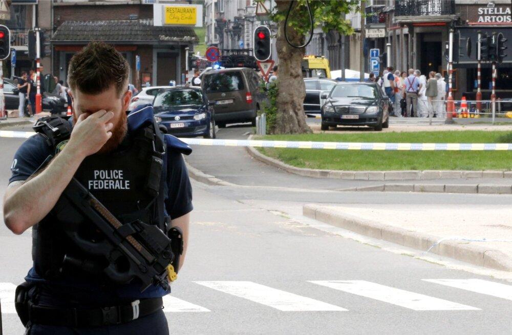 Politseinik Liège'is pärast tulevahetuse lõppu