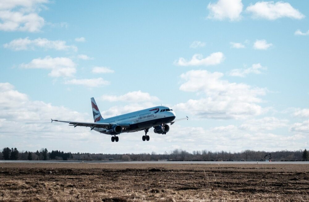 Esimene British Airwaysi lennuk Tallinnas