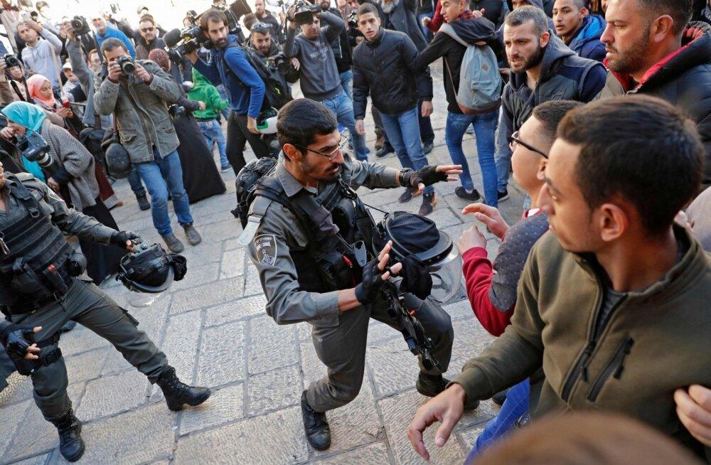 FOTOD   Trumpi otsus Jeruusalemma kohta on vallandanud palestiinlaste kokkupõrked Iisraeli julgeolekujõududega