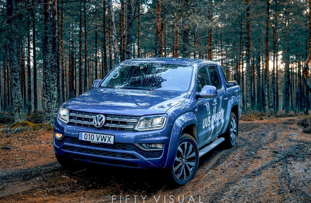 Proovisõit: Volkswagen Amarok - auto kuulab kindlalt rooli