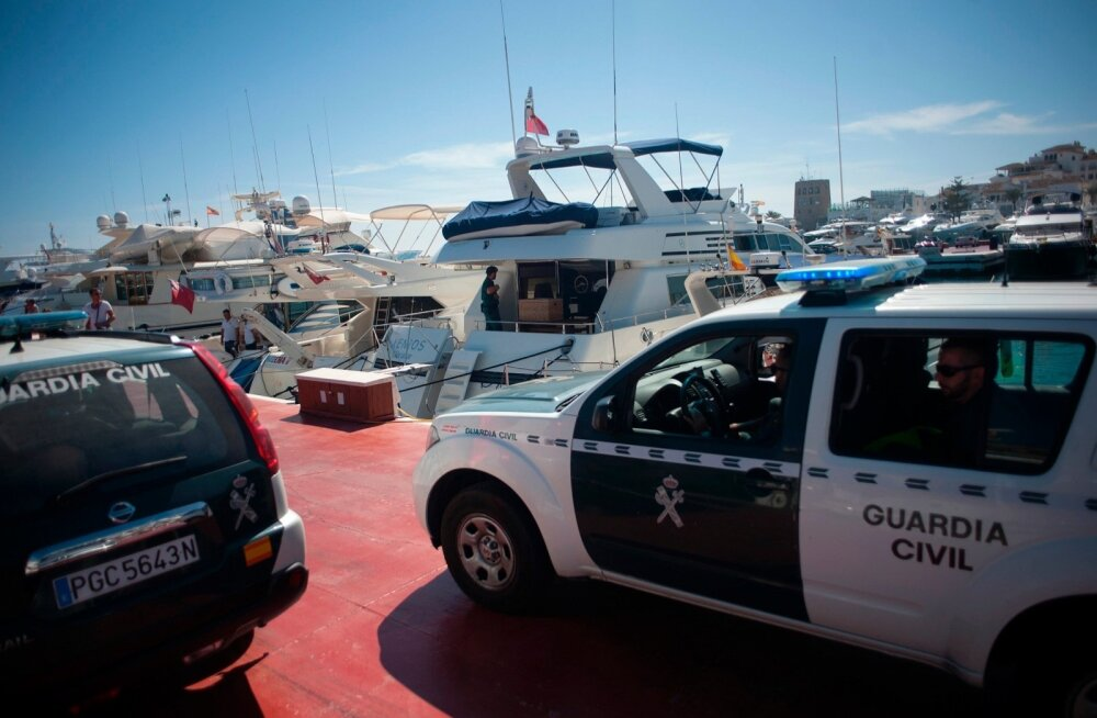 Vene maffia vastane operatsioon toimus Hispaanias ka Marbella sadamaalal.