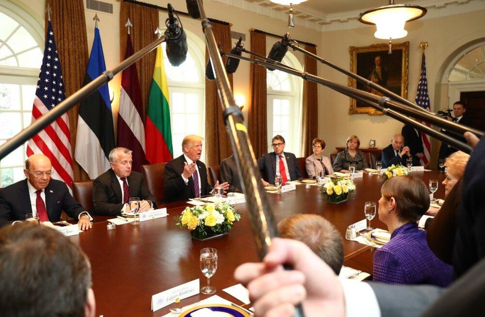 Balti riikide presidendid Valges majas 2018. aasta aprillis.