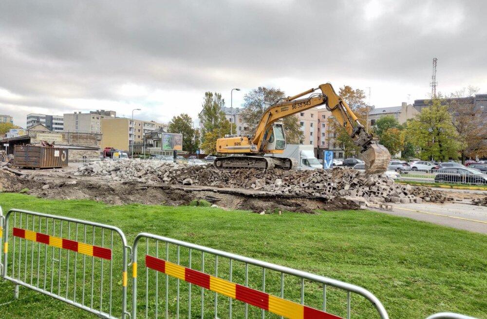 В Таллинне на улице Рейди завершены работы по сносу зданий