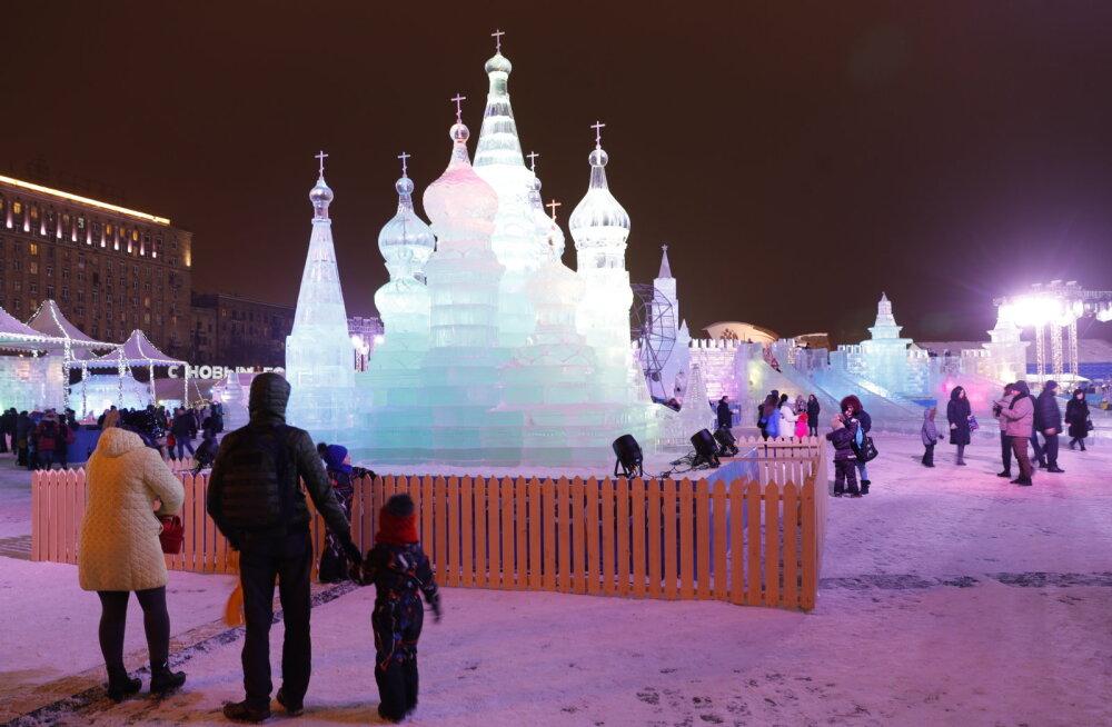 VIDEO   Moskvas toimub hiiglaslik jääfestival, mis on pühendatud suurtele tsivilisatsioonidele