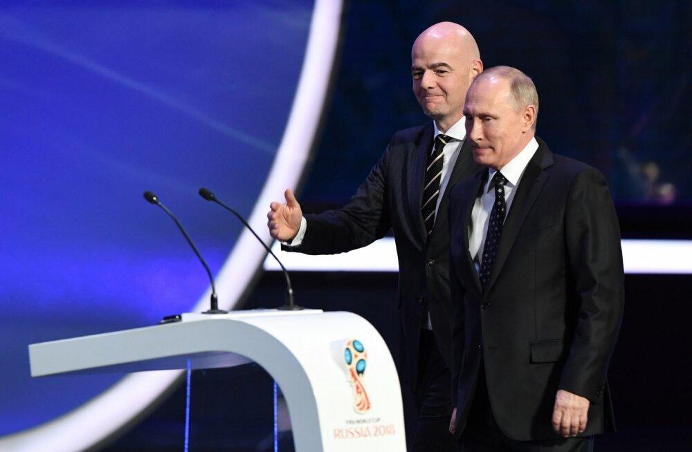 Gianni Infantino ja Vladimir Putin