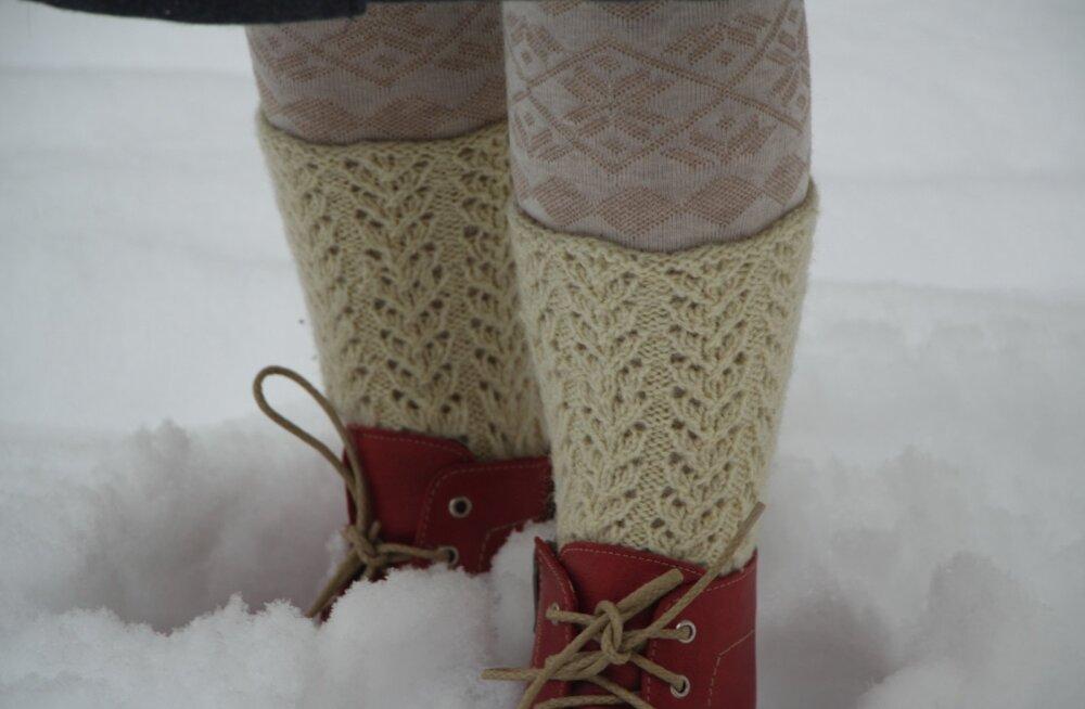 Pehmed villased sokid hoiavad jalad soojas.