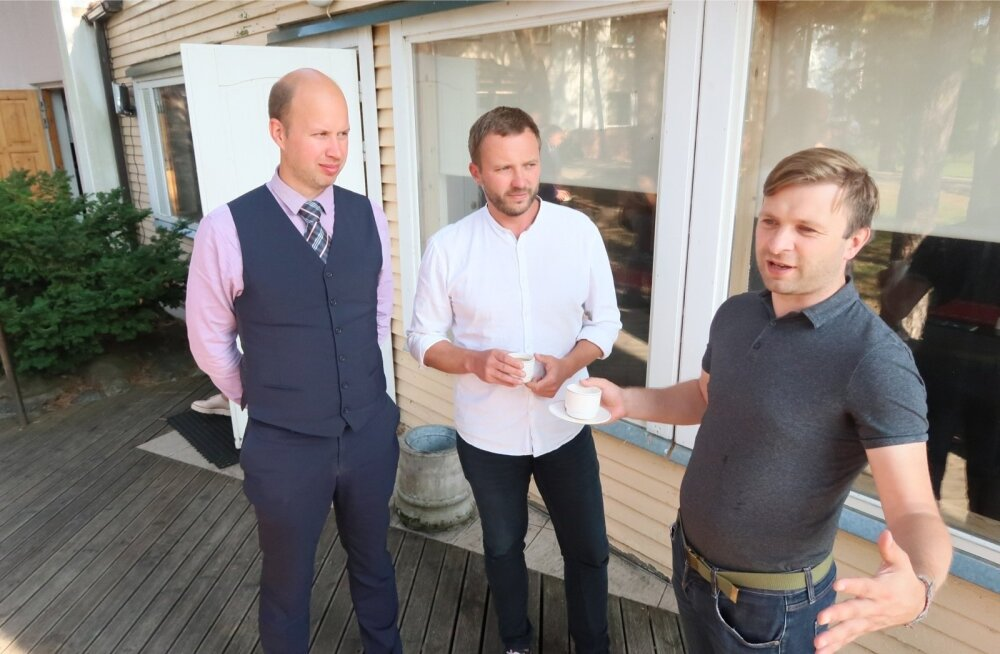 """Igor Taro (vasakult), Margus Tsahkna ja Pirko Konsa on """"Eesti 200-ga"""" liitunud hiljaaegu."""