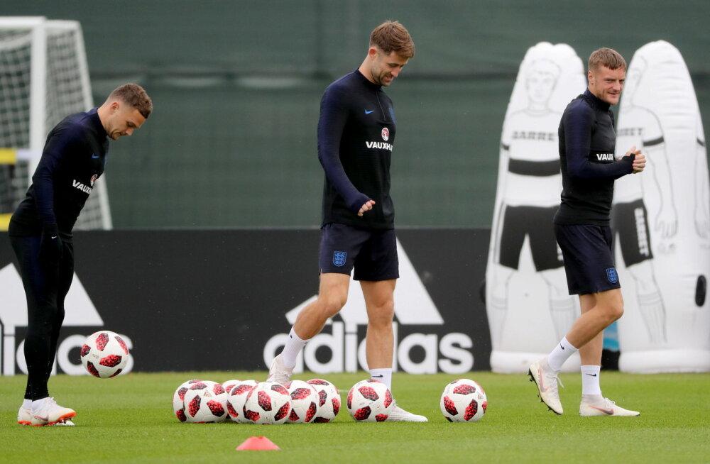 Inglismaa jalgpallurid valmistuvad poolfinaaliks