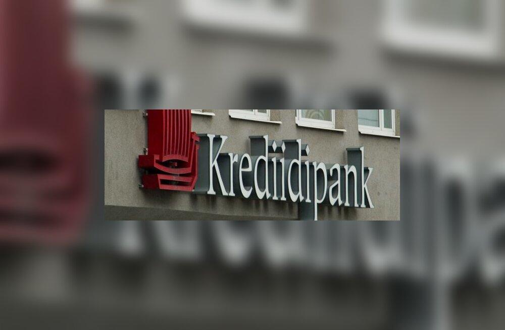 Krediidipanga aktsiakapital suurenes poole miljardi krooni võrra
