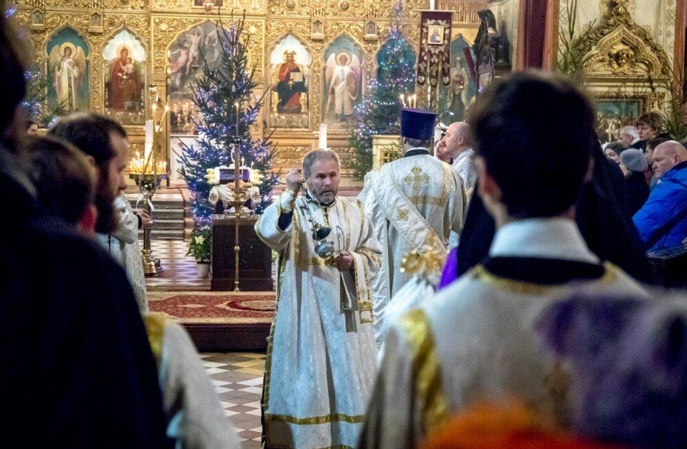 Jõuluteenistus Nevski katedraalis 6.01.2018