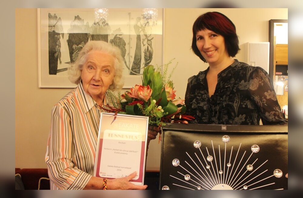 Eakate juubelifestivalil sai elutöö preemia näitleja Ita Ever