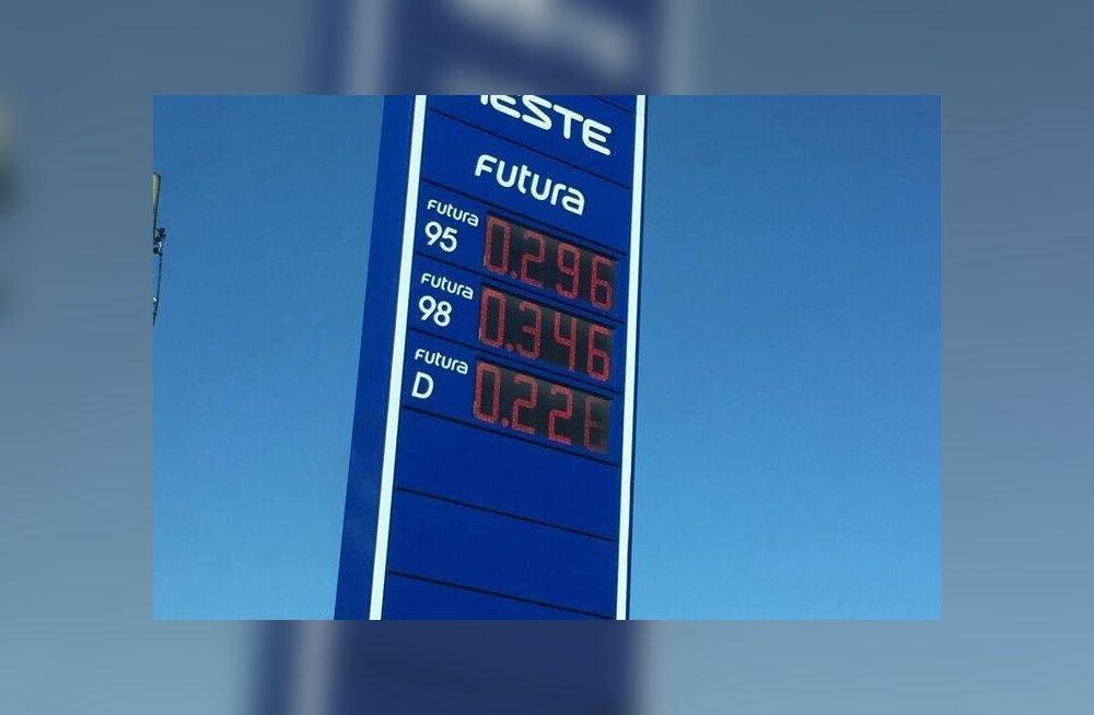 ФОТО: В субботу на автозаправке Neste были абсурдно низкие цены