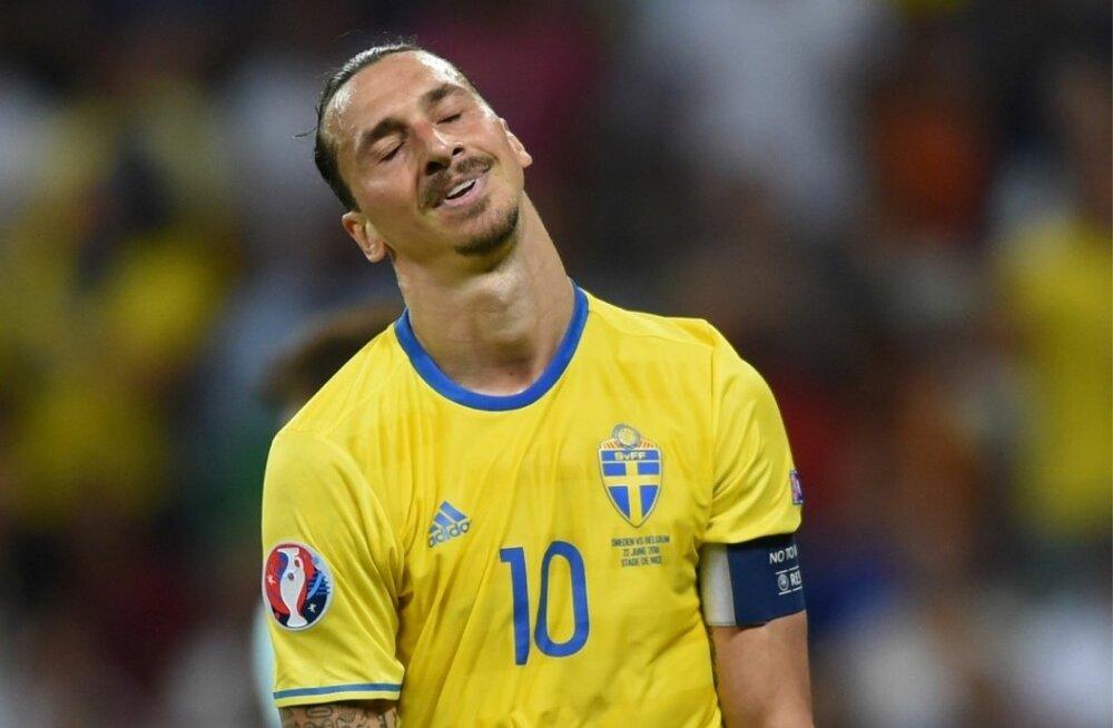 Zlatan Ibrahimovic Rootsi koondise särgis.