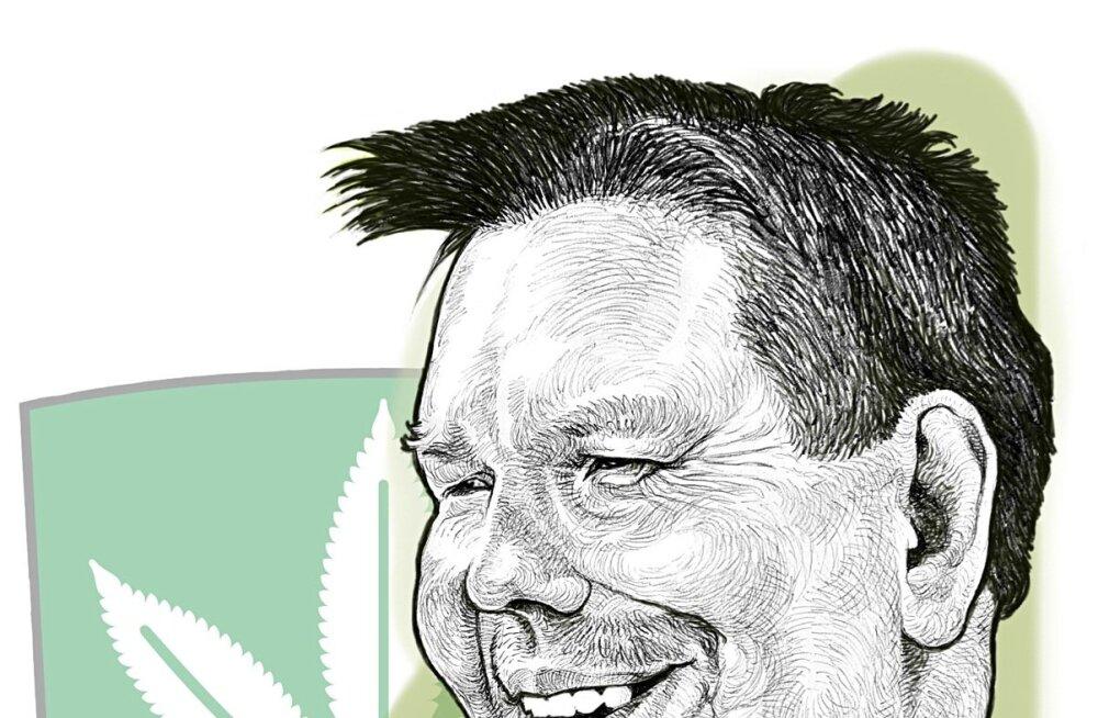 Kunstnik Tõnu Kukk viis kanepilehega Kanepi valla maailma meediasse