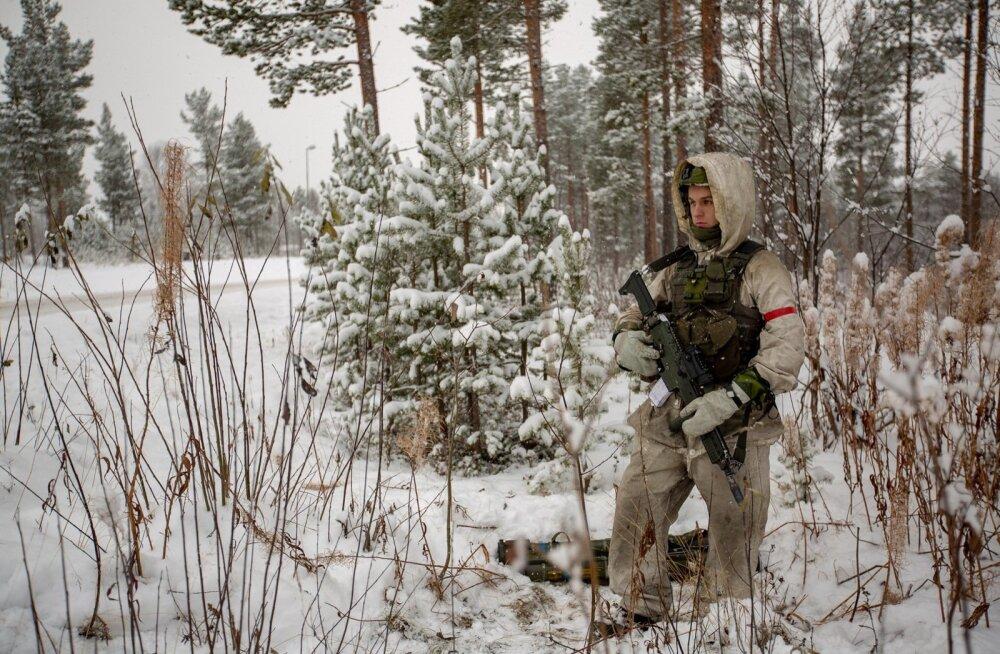 Rootsi sõdur õppusel Trident Juncture