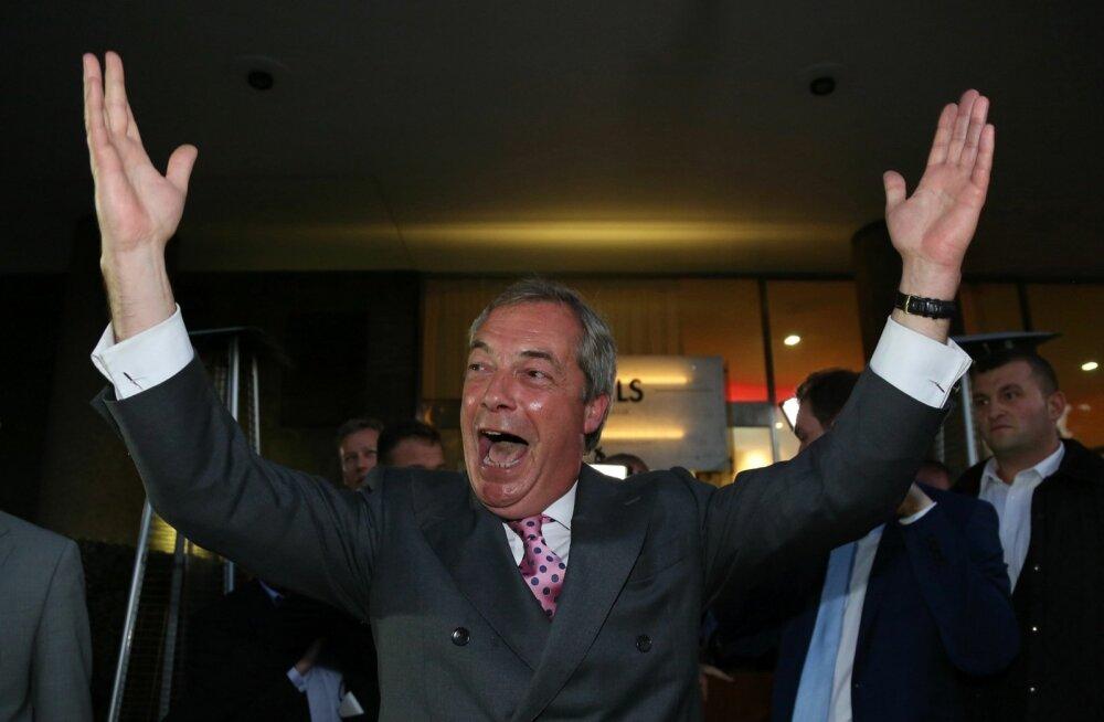 EL-i vastase Iseseisvuspartei juht Nigel Farage reageeris tulemustele rõõmuga.