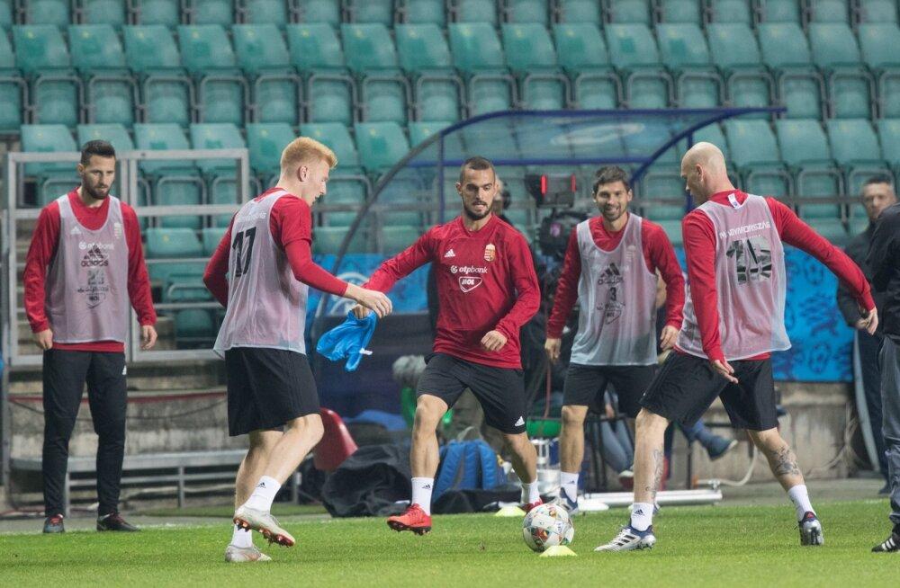 Ungari jalgpallikoondise treening